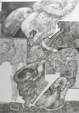 Aggression in Being (11/1990, Z192, pencil-drawing) - Heinz Plank